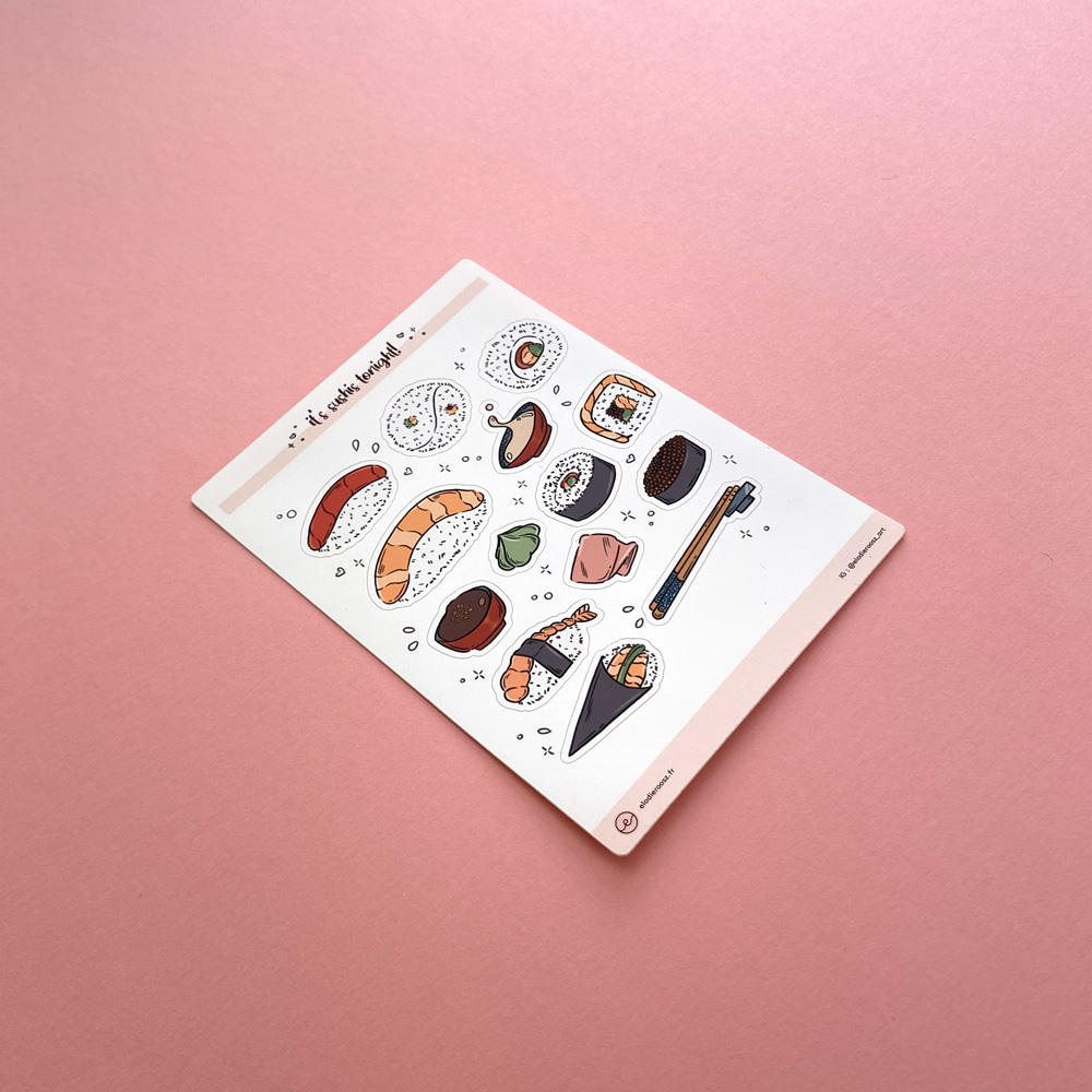 Elodie-Roosz - Products - Sushis-stickersheet-2 206