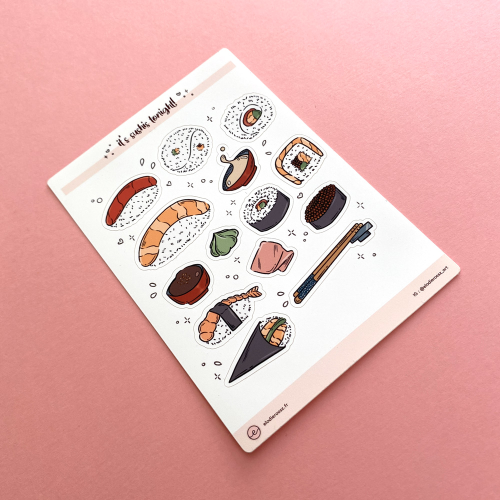 Elodie-Roosz - Products - Sushis-stickersheet-3 208